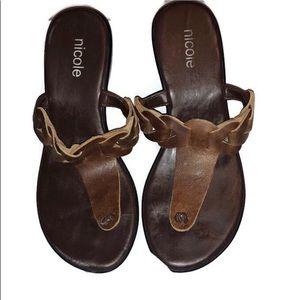 Nicole wedge sandals size 5